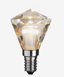 Star Trading Illumination LED Diamant krone /illum E14 Klar 2700K 3,3W