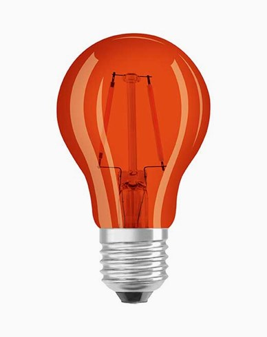 Osram LED-pære CL A Décor Orange E27 2W (15W)