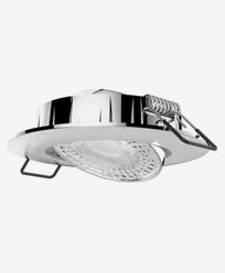 Airam Cosmo LED downlight 5,8W/830 IP20 dimbar Børstet krom