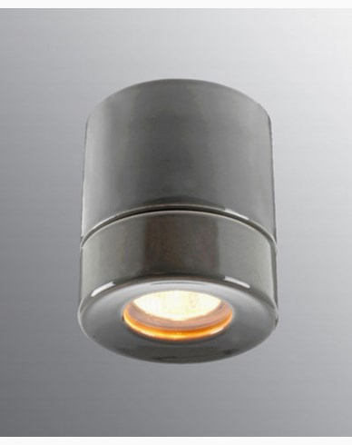Ifö Electric Light On BASTU Downlight Grå IP44 max 35W GU10