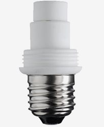 Lampsockel/adapter, porslin, MAXI, E27/G9. 6515