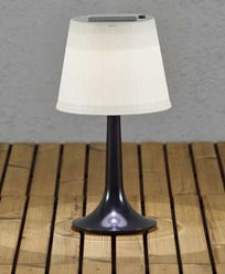 Konstsmide Assisi bordlampa solcelle LED svart. 7109-752