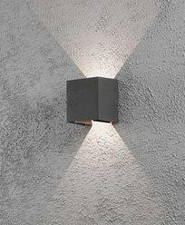 Konstsmide Monza vegglampe oppned cube 2x6W High Power LED