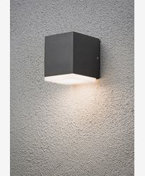 Konstsmide Monza vegglampe ned kub 6W High Power LED Mørk grå. 7990-370
