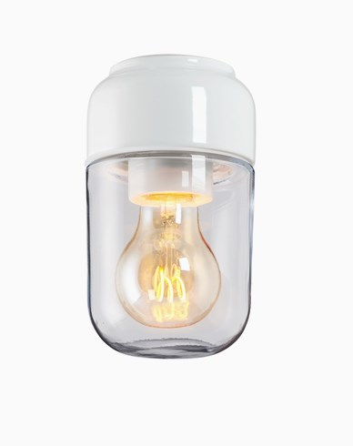 Ifö Electric Ohm 100 badstuehøyde 170 mm hvitt klart glass IP44 E27 40W tak-/veggmontering